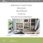 Screenshot der Startseite von kathrinroth.ch als Referenz im Portfolio